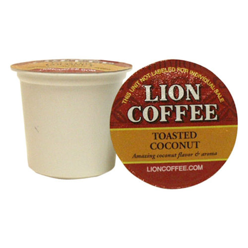 Lion Coffee Single Serve Cupstoasted Coconut Tropical
